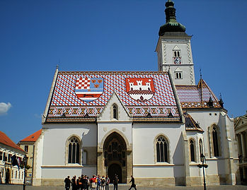 zagreb, croatia, church, tiles