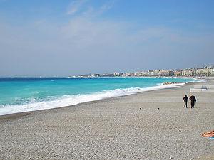 france, nice, beach, water