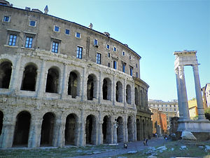 Teatro Marcello, theatre of marcellus, rome, italy, ruin