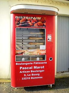bread vending machine, france