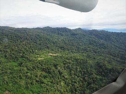 kokoda, papua new guinea, plane, view, owen stanley range, mountain