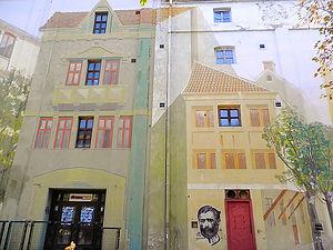 Skadarska, painted buildings, belgrade, serbia