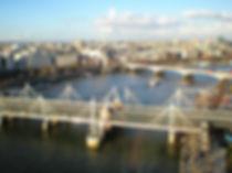 london eye, view, thames, london, england