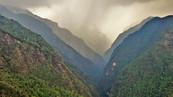 The rain coming towards Chhromrong
