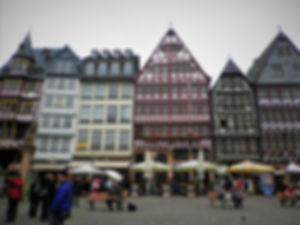 Romerplatz, frankfurt, germany, old town