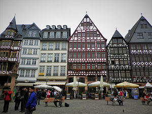 Romerplatz, frankfurt, germany, old town