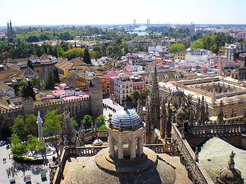 cathedral, view, seville, spain