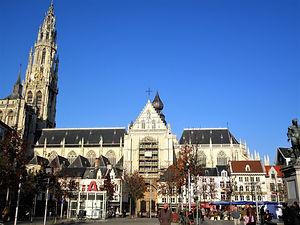 Groenplaats, antwerp, belgium, cathedral
