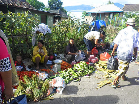 Lombok, Indonesia, street market