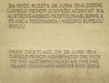 sarajevo, bosnia, plaque, world war I