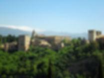 alhambra, granada, spain, view