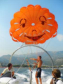 Parasailing, budva, montenegro