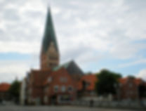 luneberg, germany, church, crooked