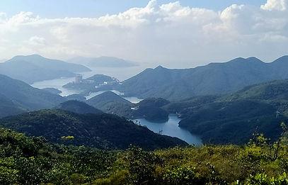 wilson trail, hong kong, hiking, mountains, view, reservoir