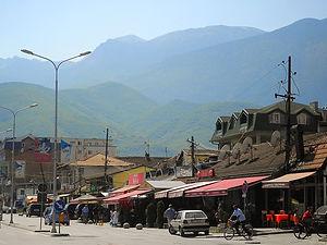 Peja, town, mountains