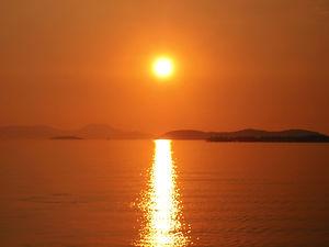 Sunset, Corfu, greece