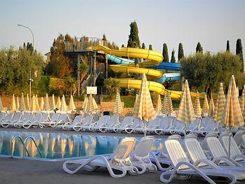 caravan park, water slide, pool, verona, italy