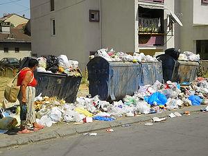Rubbish, garbage, prizren, kosovo
