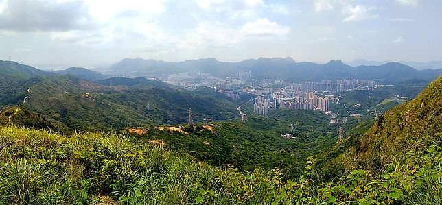 hiking, trail, hong kong, mountain, view, maclehose, scenery, needle hill