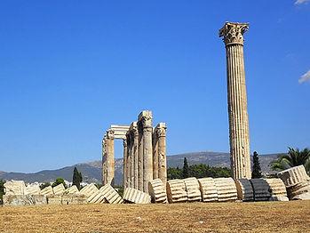 Temple of Olympian Zeus, athens, greece, ruins