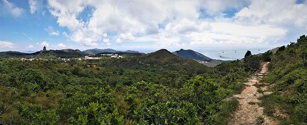 lantau island, lantau trail, view, mountain, sea, hiking, hong kong, big buddha