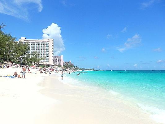 paradise island, beach, nassau, bahamas