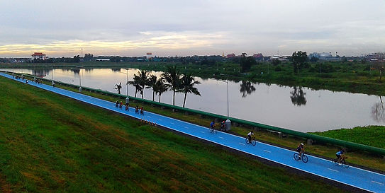 bangkok, thailand, sky lane, cycling