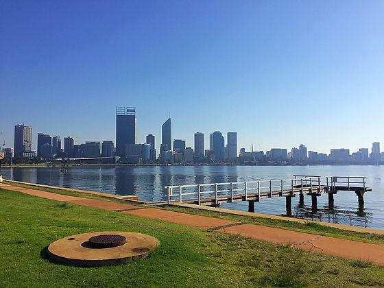 perth city view australia