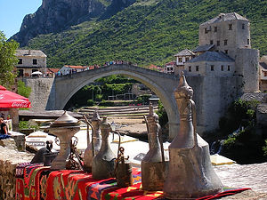Mostar, Bosnia and Herzegovina, stari most, bridge