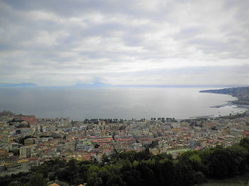 View from Castel Sant'Elmo, naples, italy, view, sea