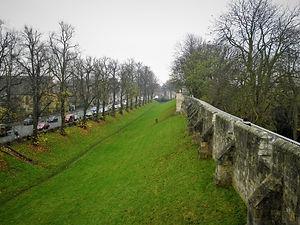 York, England, city wall