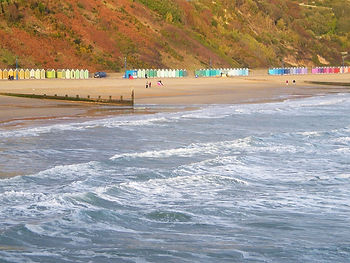 beach, dorset, england