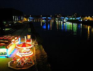 maribor, slovenia, night