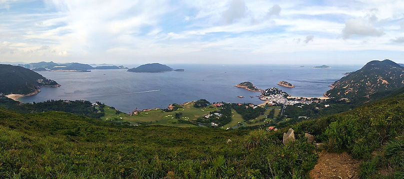 hong kong, trail, mountain, hiking, view, island, beach, sea, water