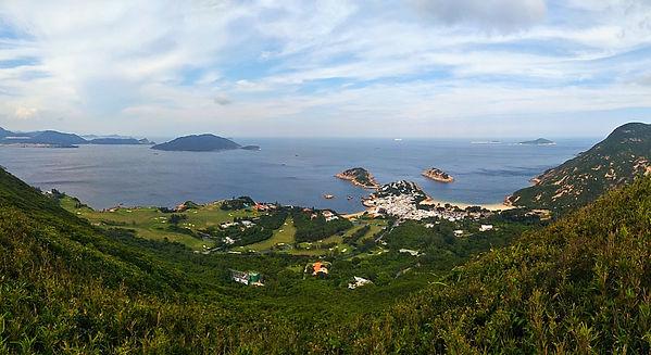 hong kong, trail, mountain, hiking, view, island, sea, water