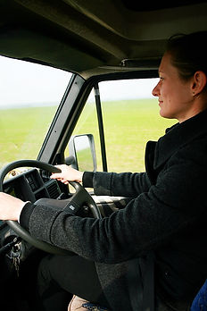 driving, campervan