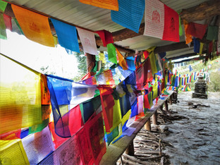 Thousands of prayer flags