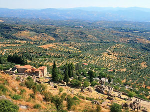 mystras, greece, view