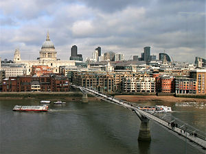 view, london, england, thames