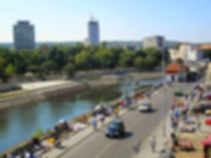 River, Sunday market, nis, serbia