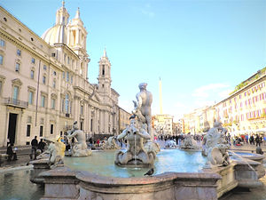 Piazza Navona, rome, italy, fountain
