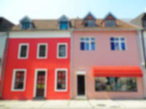 Njegoseva street, colourful houses, cetinje, montenegro