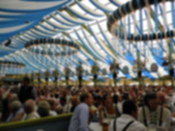 Beer tents, oktoberfest, munich, germany