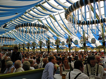 Beer tents, oktoberfest, munich, germany