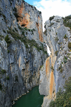 pyrenees, gorge, spain