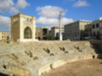 Anfiteatro Romano, lecce, italy, ruins