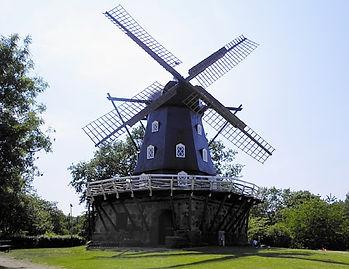 malmo, sweden, windmill, kungsparken