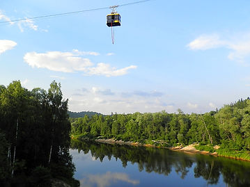 Bungee cable car, sigulda, latvia, bungy jump