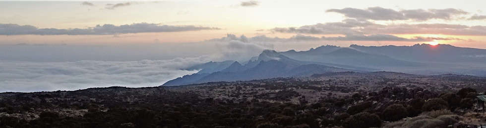 Shira Ridge at sunset