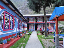 Colourful accommodation